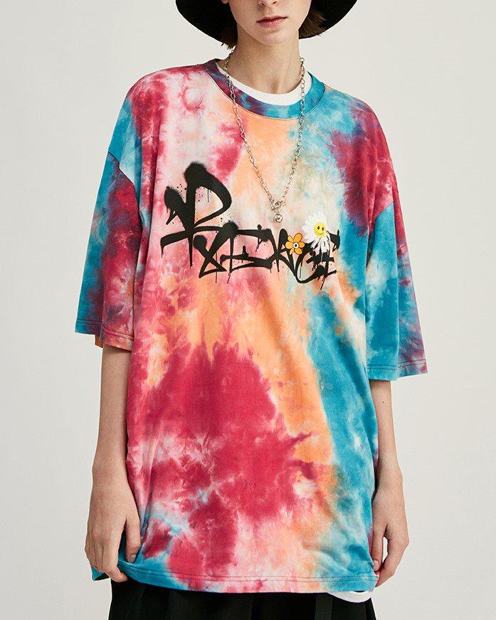 《2色》デイジースマイルタイダイTシャツの画像1
